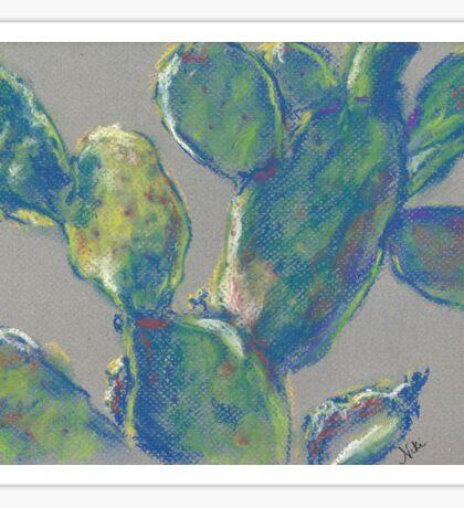 Plein Air Cactus (pastel) Sticker