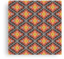 Aztec geometric seamless  colorful pattern Canvas Print