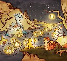 Pokemon Water and Fire Festival by Figment Forms