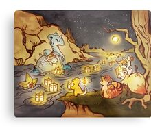 Pokemon Water and Fire Festival Metal Print