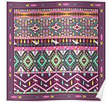 Сolorful aztec geometric pattern Poster