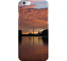 Reflecting on Fiery Skies - Toronto Skyline at Sunset iPhone Case/Skin