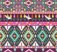 Сolorful aztec geometric pattern by tomuato