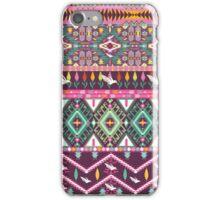 Сolorful aztec geometric pattern iPhone Case/Skin
