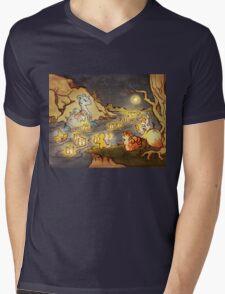 Pokemon Water and Fire Festival Mens V-Neck T-Shirt