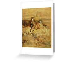 Quarterhorse Cutting a Cow from the Herd Greeting Card