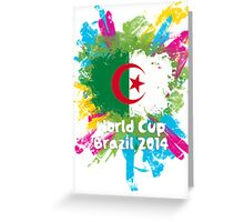World Cup Brazil 2014 - Algeria Greeting Card