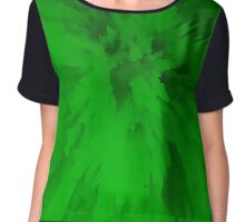 Green Spikes Chiffon Top