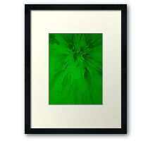 Green Spikes Framed Print