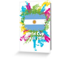 World Cup Brazil 2014 - Argentina Greeting Card