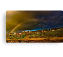 """Rainbow Over North Lorne"" Canvas Print"