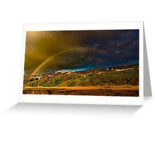 """Rainbow Over North Lorne"" Greeting Card"