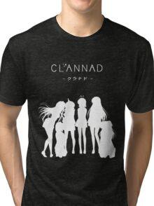 CLANNAD - Main Girls (White Edition) Tri-blend T-Shirt
