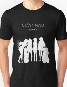CLANNAD - Main Girls (White Edition) Unisex T-Shirt