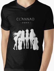 CLANNAD - Main Girls (White Edition) Mens V-Neck T-Shirt