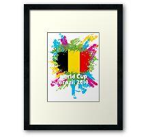 World Cup Brazil 2014 - Belgium Framed Print