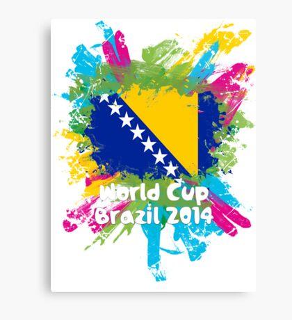 World Cup Brazil 2014 - Bosnia and Herzegovina Canvas Print