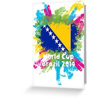 World Cup Brazil 2014 - Bosnia and Herzegovina Greeting Card