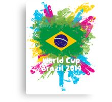 World Cup Brazil 2014 - Brazil Canvas Print