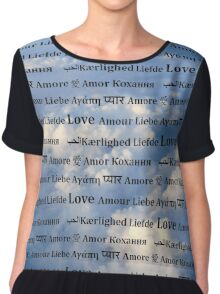 Love is in the Air Background Chiffon Top