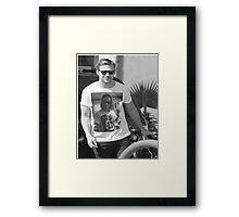 Ryan Gosling wearing aT-shirt of Macaulay Caulkin wearing a T-shirt of Ryan Gosling  Framed Print
