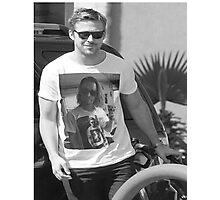 Ryan Gosling wearing aT-shirt of Macaulay Caulkin wearing a T-shirt of Ryan Gosling  Photographic Print