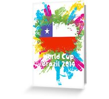 World Cup Brazil 2014 - Chile Greeting Card