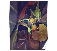 Folding Pages Of Water Lily Pads Poster