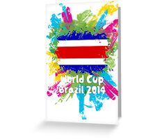 World Cup Brazil 2014 - Costa Rica Greeting Card