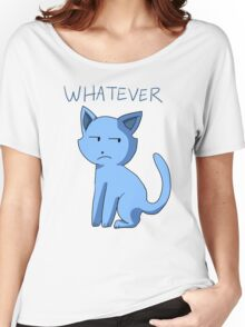 Apathetic Cartoon Cat Tee Design Women's Relaxed Fit T-Shirt