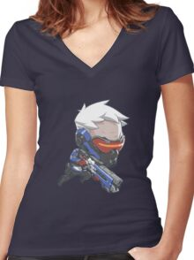 Soldier: 76 Cute Spray Women's Fitted V-Neck T-Shirt