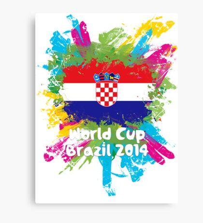 World Cup Brazil 2014 - Croatia Canvas Print