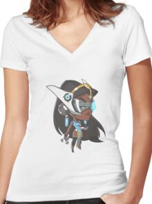 Symmetra Cute Spray Women's Fitted V-Neck T-Shirt