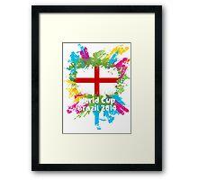World Cup Brazil 2014 - England Framed Print