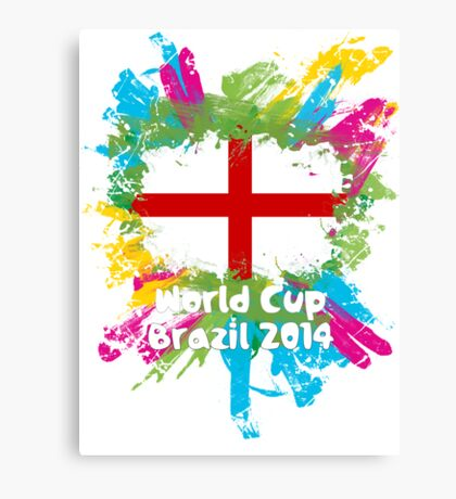 World Cup Brazil 2014 - England Canvas Print