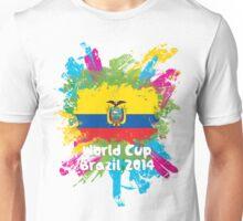 World Cup Brazil 2014 - Ecuador Unisex T-Shirt