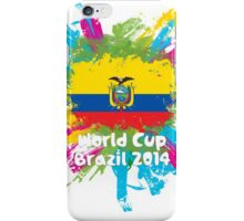 World Cup Brazil 2014 - Ecuador iPhone Case/Skin