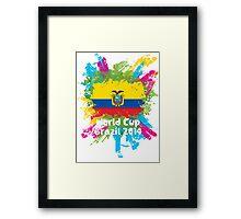 World Cup Brazil 2014 - Ecuador Framed Print