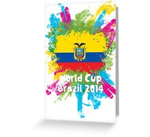 World Cup Brazil 2014 - Ecuador Greeting Card