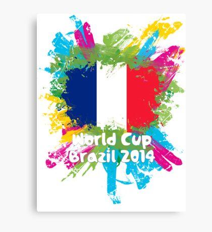 World Cup Brazil 2014 - France Canvas Print
