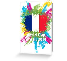 World Cup Brazil 2014 - France Greeting Card
