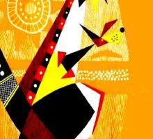 """AUSTRALIA"" Art Deco Kangaroo's Travel Print Sticker"