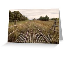 Old Railway Track Greeting Card