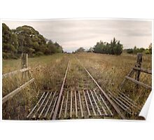 Old Railway Track Poster