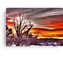 Surrealistic Thanksgiving Morning Sunrise Canvas Print