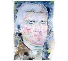 THOMAS JEFFERSON - watercolor portrait Poster