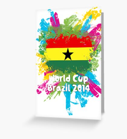 World Cup Brazil 2014 - Ghana Greeting Card