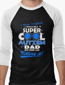 Autism - Cool Autism Dad Men's Baseball ¾ T-Shirt