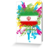 World Cup Brazil 2014 - Iran Greeting Card