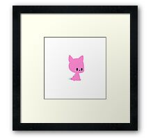 Pink Kitty Framed Print